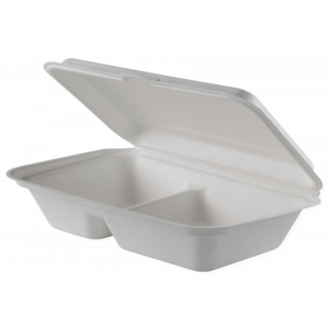 caserole biodegradabile 2 compartimente